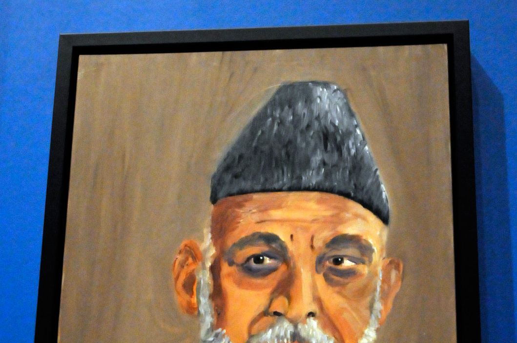 "04 Apr 2014, Dallas, Texas, USA --- A portrait of Afghan President Hamid Karzai which is part of the exhibit ""The Art of Leadership: A President's Diplomacy,"" is on display at the George W. Bush Presidential Library and Museum in Dallas, Friday, April 4, 2014. The exhibit of world leader portraits painted by former President George W. Bush opens Saturday and runs through June 3. (AP Photo/Benny Snyder) --- Image by ? Benny Snyder/AP/Corbis"