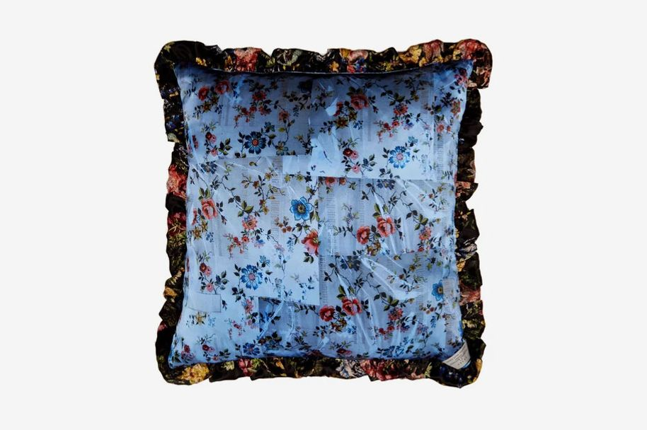 Preen by Thornton Bregazzi Tapestry and floral-print silk cushion