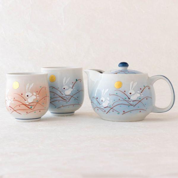 Kutani Ware Rabbit Tea Set
