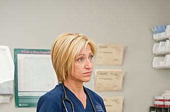 Edie Falco as Jackie Peyton in Nurse Jackie (Season 4, episode 7).