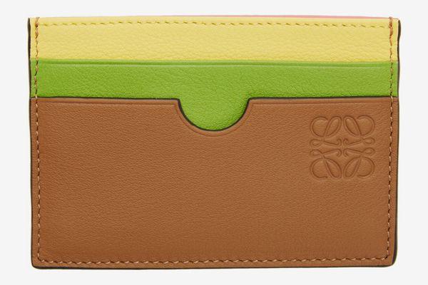 Loewe Tan Rainbow Plain Card Holder