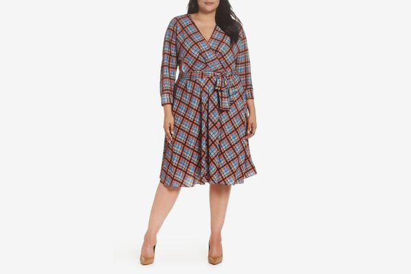 Eliza J Faux Wrap Shirtdress