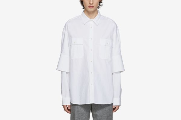 JW Anderson White Double Cuffs Shirt