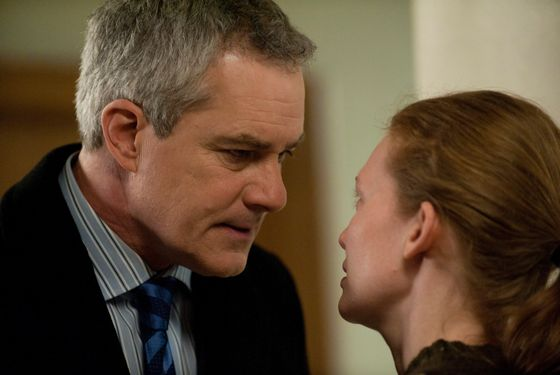 Michael Ames (Barclay Hope) and Sarah Linden (Mireille Enos) - The Killing - Season 2, Episode 13 - Photo Credit: Carole Segal/AMC