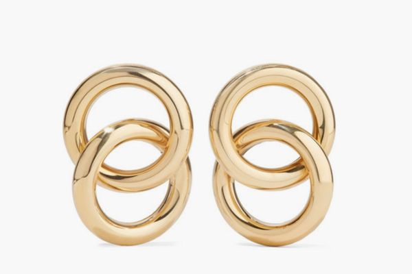 Laura Lombardi Interlock Gold-Tone Earrings