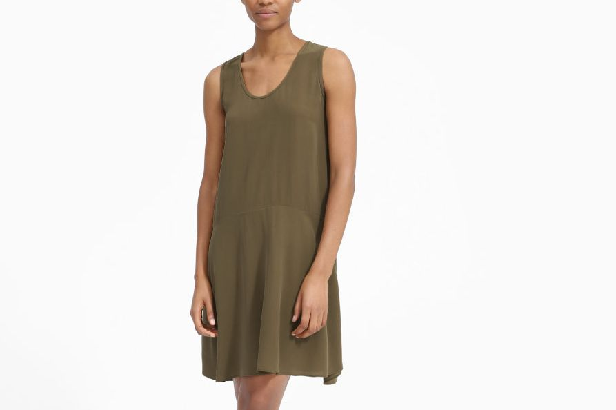 Everlane the Clean Silk Sleeveless Dress
