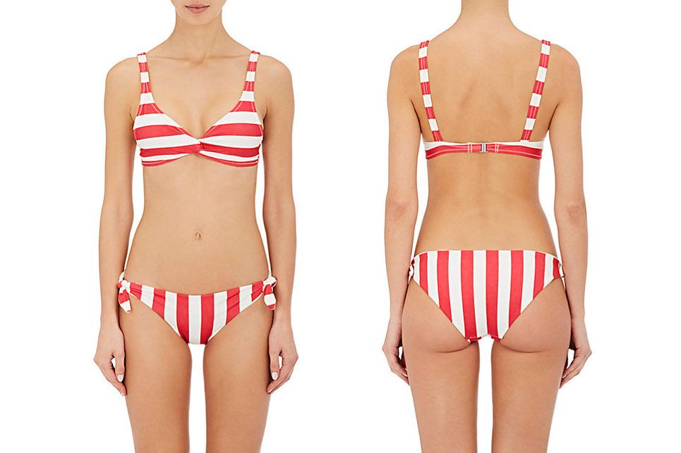 Solid & Striped Jane Striped Twist-Front Bikini Top