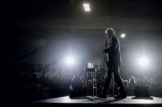 Former President Bill Clinton campaigns on behalf of his wife, Hillary Clinton, a Democratic presidential hopeful, at Bonita Vista High School in Chula Vista, Calif.,