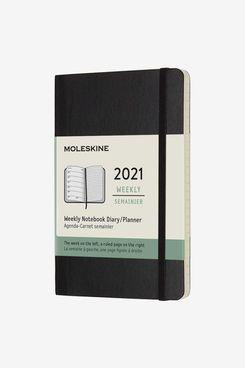 Moleskine 12 Month 2021 Weekly Planner, Soft Cover, Pocket