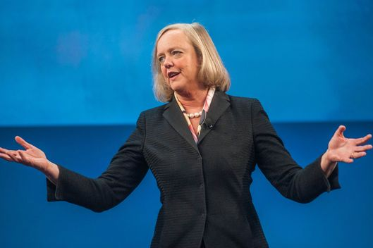 Meg Whitman, chief executive officer of Hewlett-Packard Co., speaks during the HP Discover 2013 conference in Las Vegas, Nevada, U.S., on Tuesday, June 11, 2013.