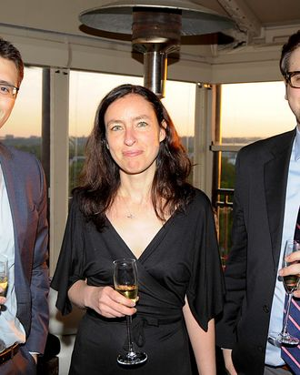 WASHINGTON, DC - APRIL 27: Ezra Klein, Amy Davidson and Guest attend The New Yorker's White House Correspondents' Dinner Party at the W Hotel on April 27, 2012 in Washington, DC. (Photo by Riccardo Savi/Getty Images for The New Yorker)