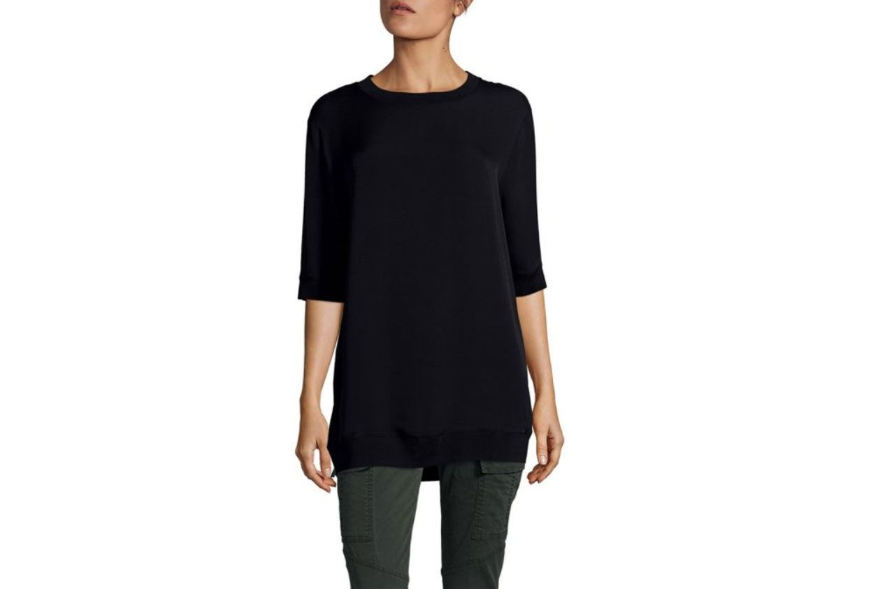 Vince Rib Trimmed Crewneck Tunic