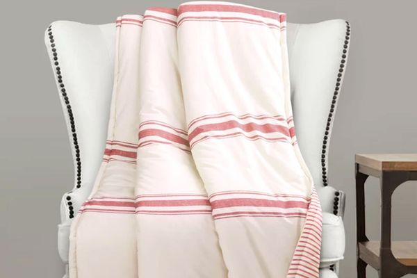 Eider & Ivory Matterson Stripe Single Cotton Throw