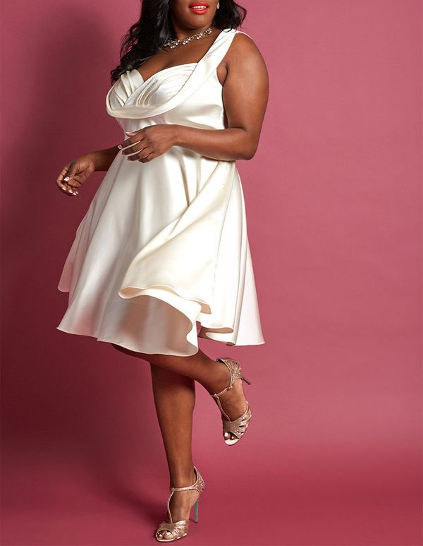 Retro Moment A-Line Dress in Cream