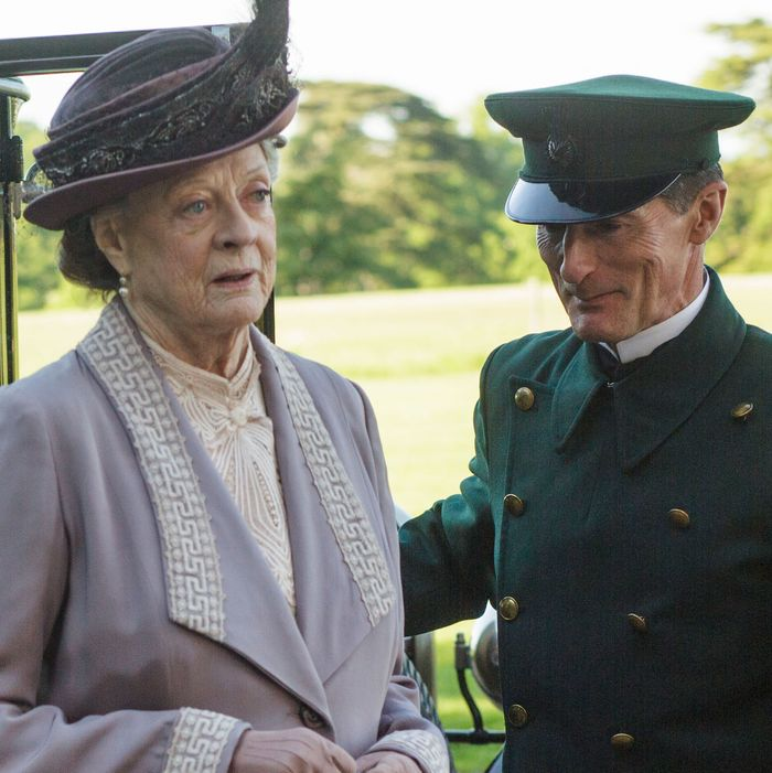 Downton AbbeyPart Six - Sunday, February 7, 2016 at 9pm ET on MASTERPIECE on PBSThe hospital war reaches a climax. Violet goes on the warpath. Daisy tries to foil a romance.Prospects are looking up for Mary and Edith. Thomas feels trapped. Shown: Maggie Smith as Violet, Dowager Countess of Grantham (C) Nick Briggs/Carnival Film & Television Limited 2015 for MASTERPIECE This image may be used only in the direct promotion of MASTERPIECE CLASSIC. No other rights are granted. All rights are reserved. Editorial use only. USE ON THIRD PARTY SITES SUCH AS FACEBOOK AND TWITTER IS NOT ALLOWED.
