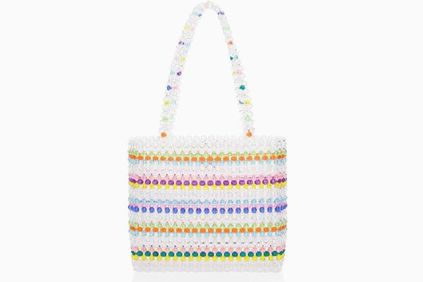 Susan Alexandra Merry Rainbow Beaded Tote