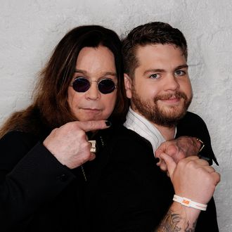 NEW YORK, NY - APRIL 25: (L-R) Ozzy Osbourne and son, producer Jack Osbourne visit the Tribeca Film Festival 2011 portrait studio on April 25, 2011 in New York City. (Photo by Larry Busacca/Getty Images for Tribeca Film Festival) *** Local Caption *** Ozzy Osbourne;Jack Osbourne;