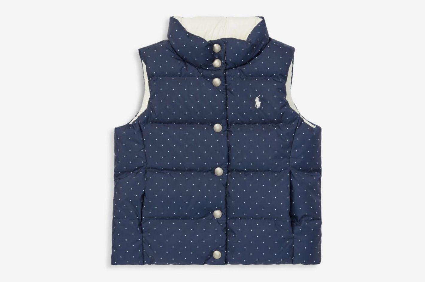 Ralph Lauren Little Girl's & Girl's Reversible Polka-Dot Vest