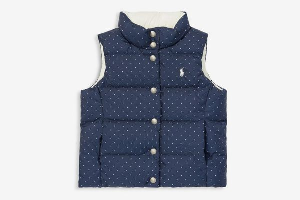 Ralph Lauren Little Girl's & Girl's Reversible Polka-Dot Vest