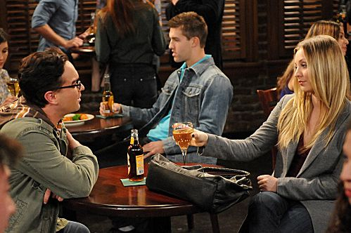 """The Ornithophobia Diffusion"" -- Leonard (Johnny Galecki, left) and Penny (Kaley Cuoco, right) try hanging out alone, and Sheldon must overcome his fear of birds, on THE BIG BANG THEORY, Thursday, Nov. 10"