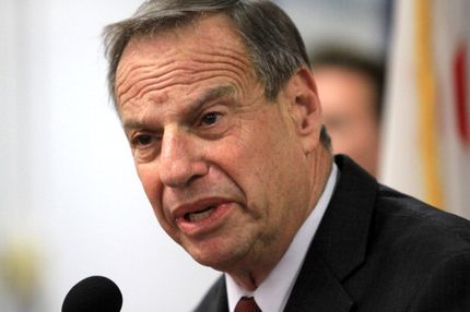 SAN DIEGO, CA - JULY 26: Mayor Bob Filner of San Diego speaks at a press conference announcing his intention to seek professional help for sexual harassent issues July 26, 2013 in San Diego, California. Mayor Filner had recently been accused of making unwanted sexual unwanted sexual advances by several female alleged vicitims.