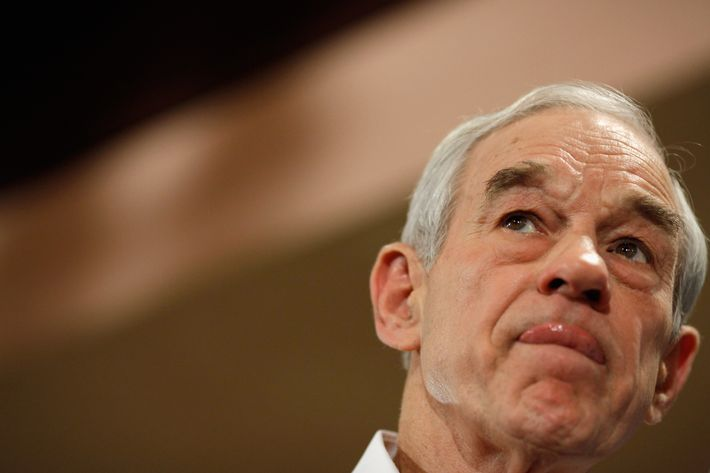 Republican presidential candidate Rep. Ron Paul (R-TX) holds a campaign town hall meeting at the Church Landing at Mill Falls January 8, 2012 in Meredith, New Hampshire.
