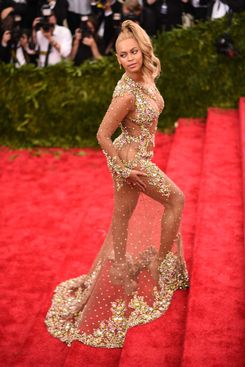 Beyonce wearing Givenchy at the Met Ball.