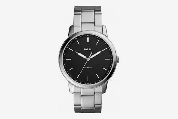 Fossil The Minimalist Quart Stainless Steel Dress Watch, 44mm