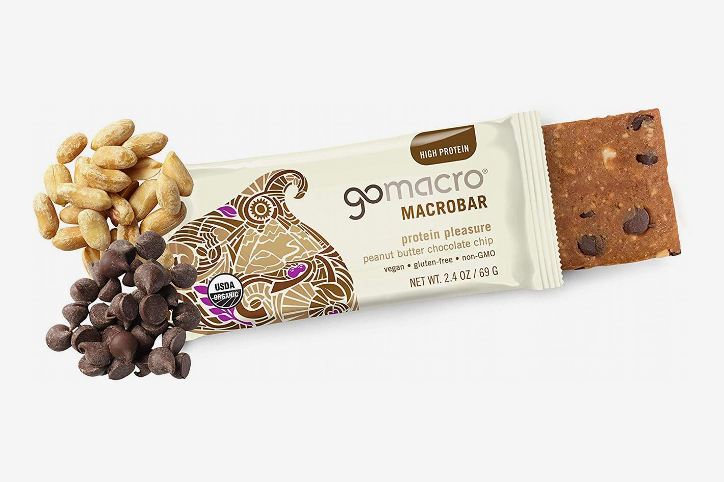 GoMacro MacroBar Peanut Butter + Chocolate Chip, 12 pack