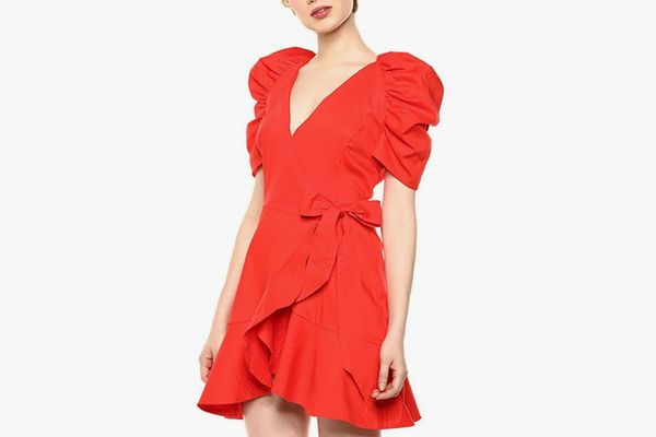 C/Meo Collective Women's Motivations Puff Sleeve Short Wrap Dress