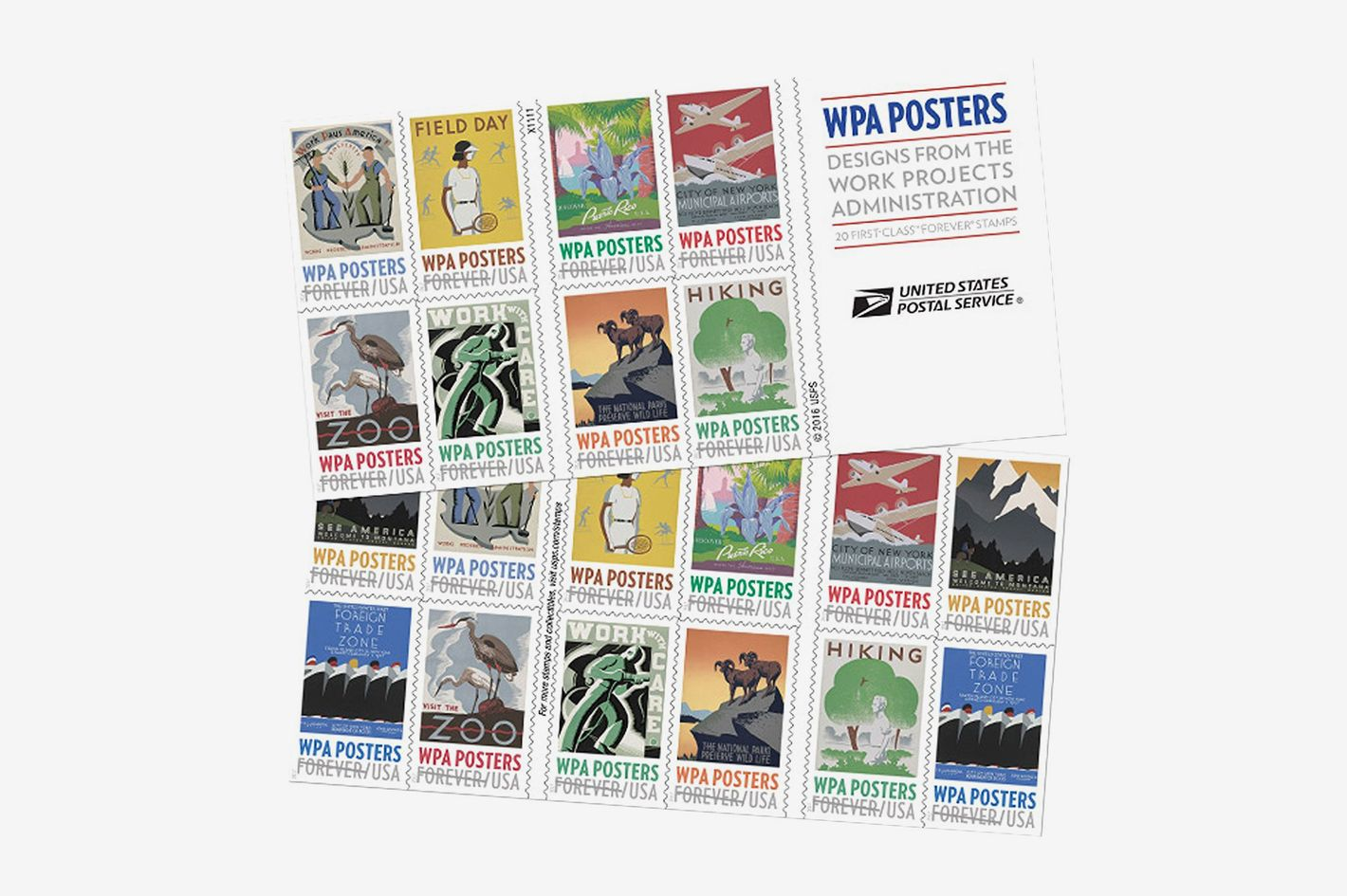 WPA Posters Forever USPS Postage Stamp