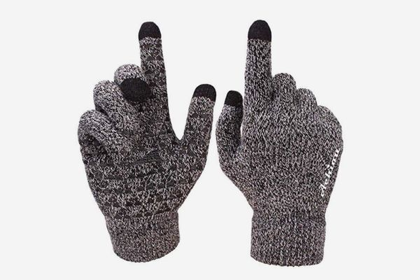 New Winter Warm Fleece Lined Thermal Knitted Gloves Touchscreen Non-slip Gloves
