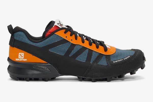District Vision Blue & Orange Salomon Edition Mountain Racer Sneakers