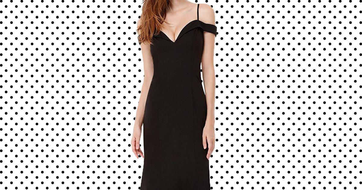 3ec20480e6c5 17 Black Dresses You Can Wear to a Wedding