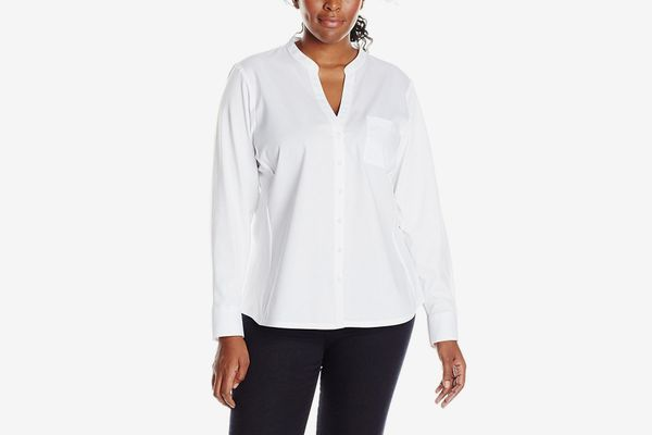 Calvin Klein Women's Plus-Size Knit Combo Shirt