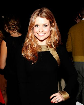 Actress Joanna Garcia attends the Monique Lhuillier Spring 2012 fashion show
