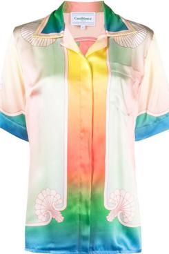Casablanca Tie-Dye Silk Shirt