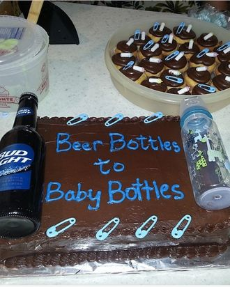 An example of a dad shower cake.