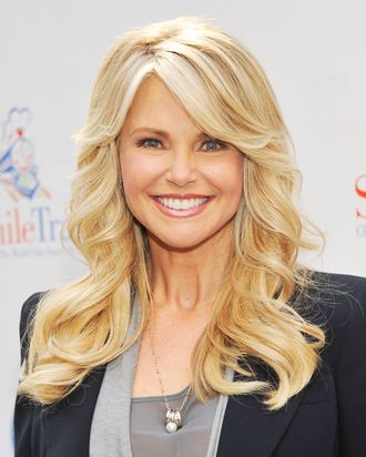 NEW YORK, NY - OCTOBER 05: Supermodel Christie Brinkley attends 2012 World Smile Day in Times Square on October 5, 2012 in New York City. (Photo by Stephen Lovekin/Getty Images)