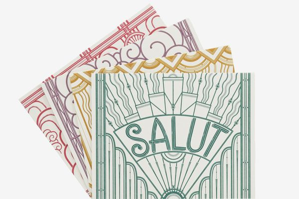 Quatre Mots Français Notecards by Louise Fili (Set of 4)
