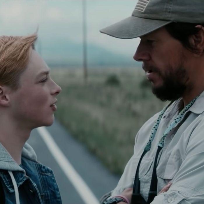 Reid Miller and Mark Wahlberg in Joe Bell.