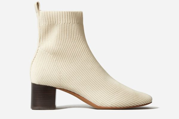 Everlane The Glove Boot ReKnit in BONE