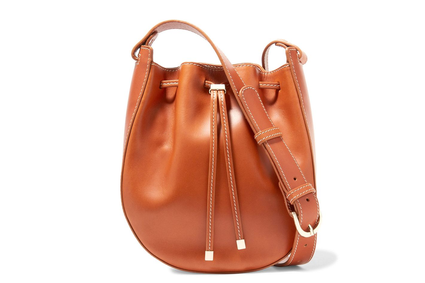 Vanessa Seward Dakota Leather Bucket Bag