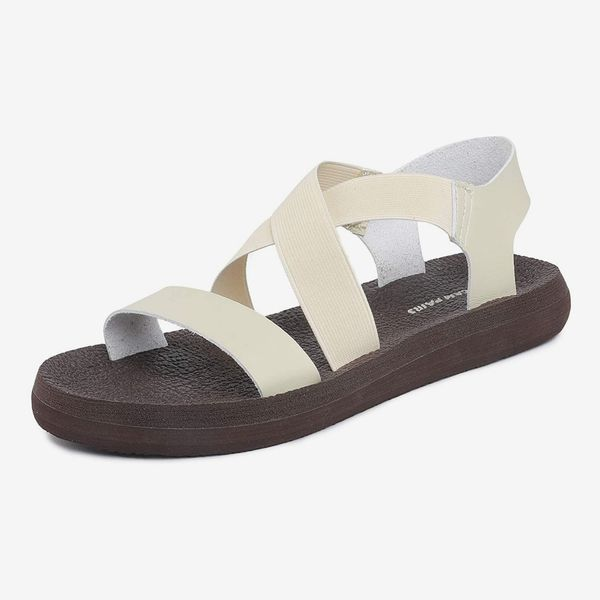 DREAM PAIRS Women's Greek Platform Wedge Flat Sandals