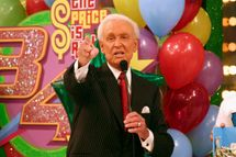 "Bob Barker, host of ""The Price is Right"" appears on set during the taping of the 34th season premiere of ""The Price is Right"" at CBS Television City on June 9, 2005 in Los Angeles, Califronia."