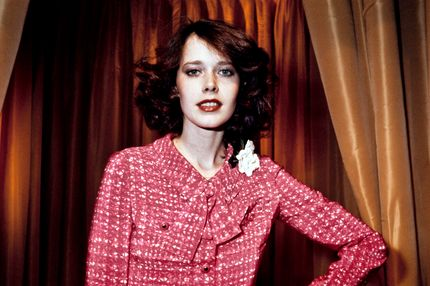 A portrait taken on January 27, 1976 in Paris shows Dutch actress and model Sylvia Kristel displaying a Chanel creation.