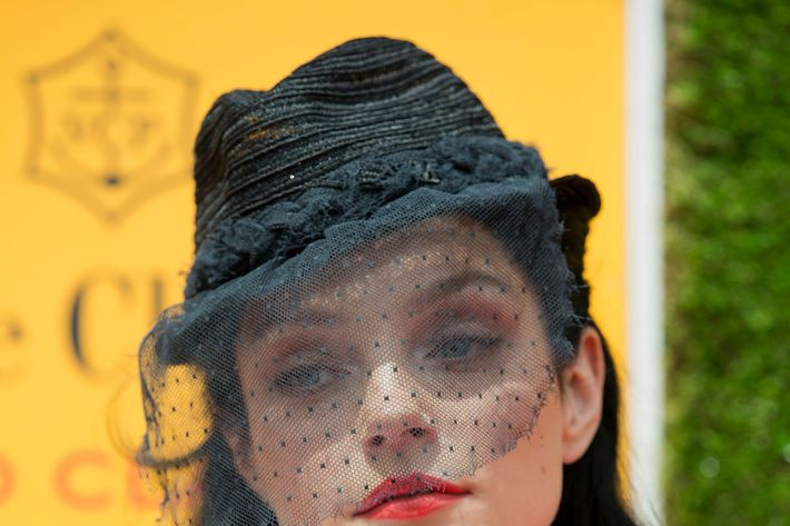 JERSEY CITY, NJ - JUNE 02:  Jessica Stam attends the fifth annual Veuve Clicquot Polo Classic on June 2, 2012 in Jersey City. (Photo by Dario Cantatore)