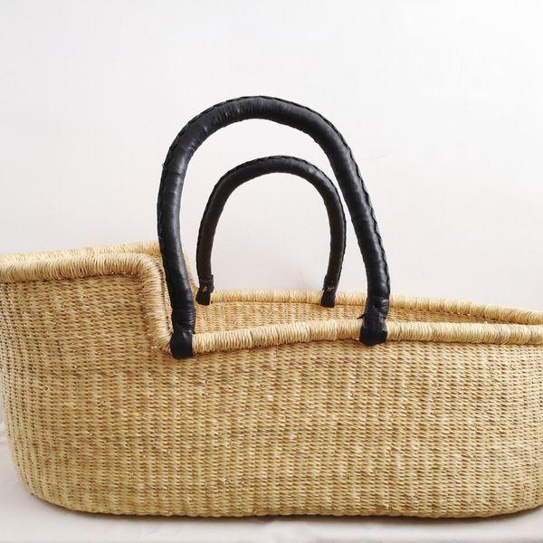 Patacake Natural Woven Baby Moses Basket