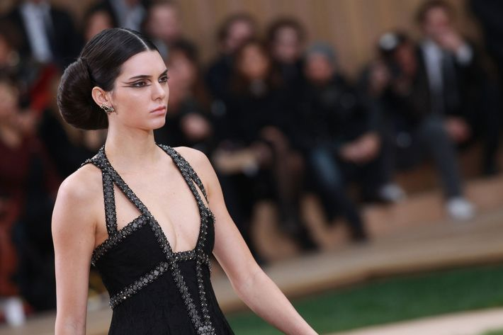 Kendall Jenner at the Chanel Couture show.