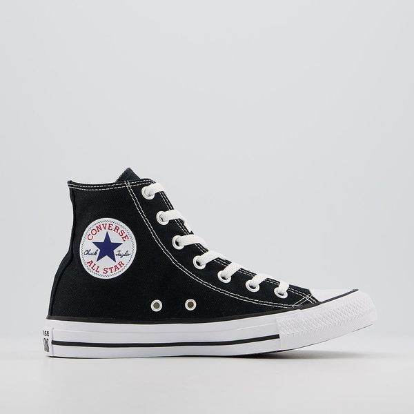 Converse All Star Hi Trainers Black Canvas
